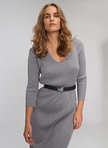 People By Fabrika Simli Elbise Gümüş